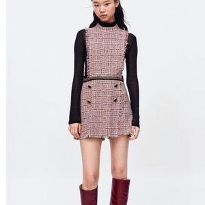 NWOT Zara Tweed chain jumpsuit